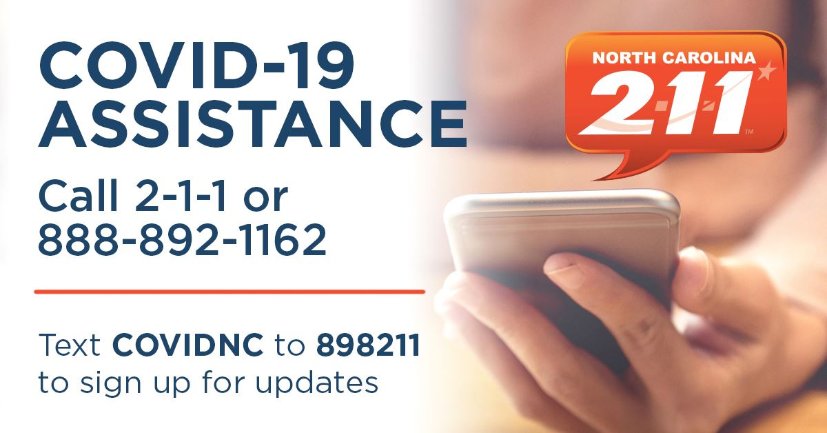 Dial 2-1-1 For COVID-19 Information