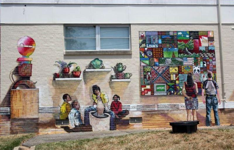 Wilkes Art Gallery mural